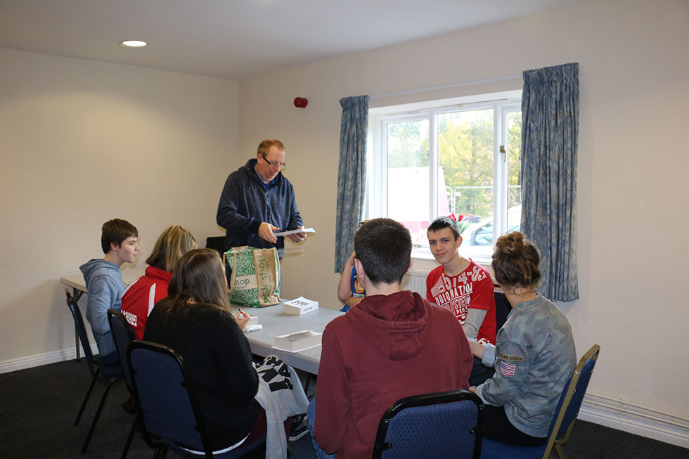 A youth group meeting at Glenelg and Inverinate Free Church of Scotland